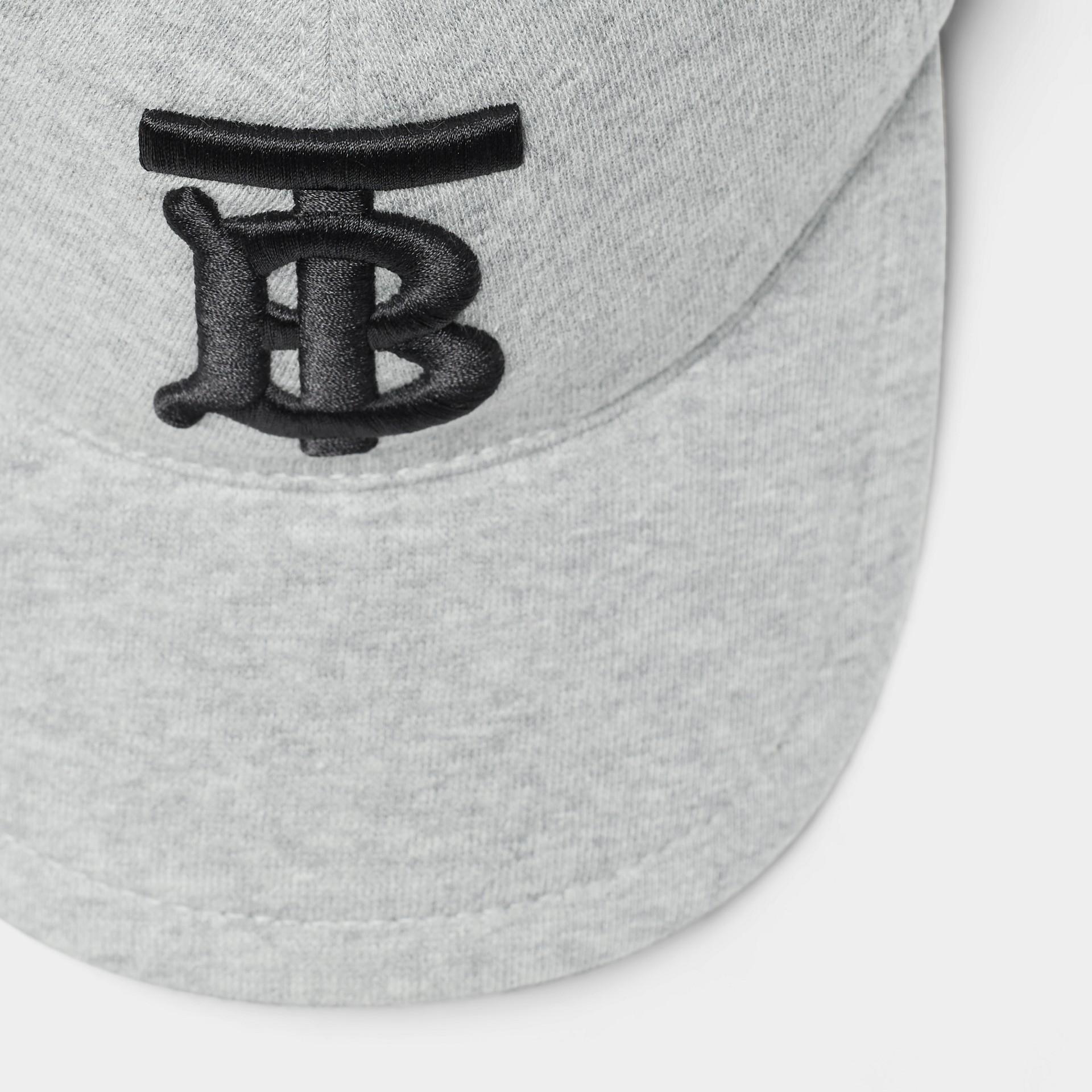 Бейсболка с монограммой Burberry (Светло-серый Меланж) | Burberry - изображение 1