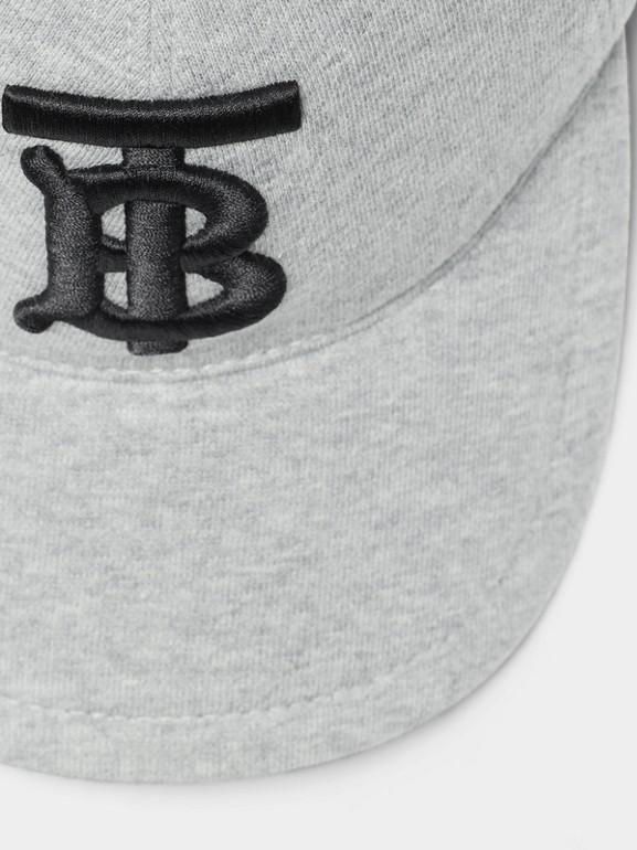 모노그램 모티프 야구 모자 (라이트 그레이 멜란지) | Burberry - cell image 1