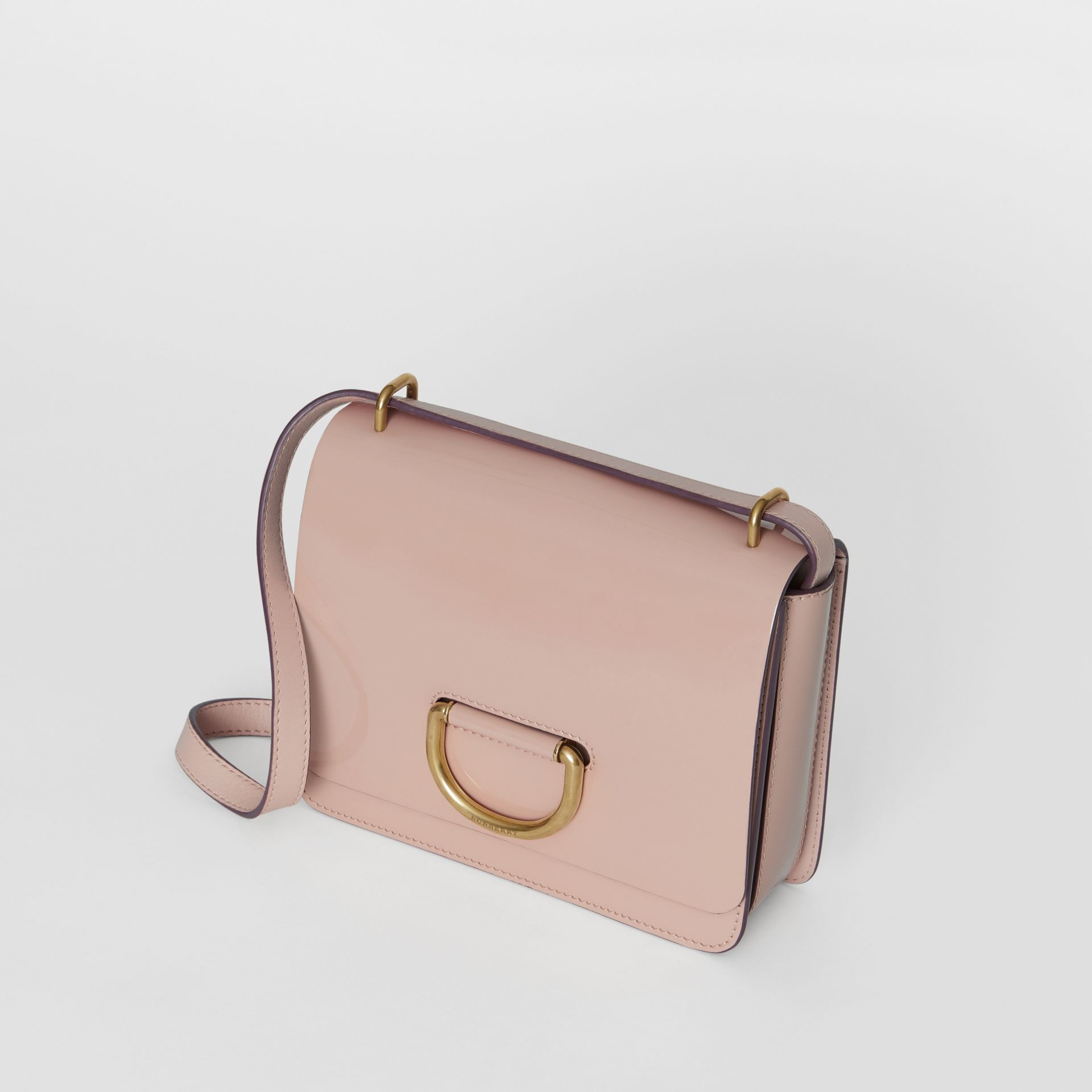 The Small Patent Leather D-ring Bag in Pale Fawn Pink - Women | Burberry - gallery image 2