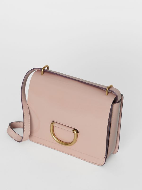 The Small Patent Leather D-ring Bag in Pale Fawn Pink - Women | Burberry - cell image 2