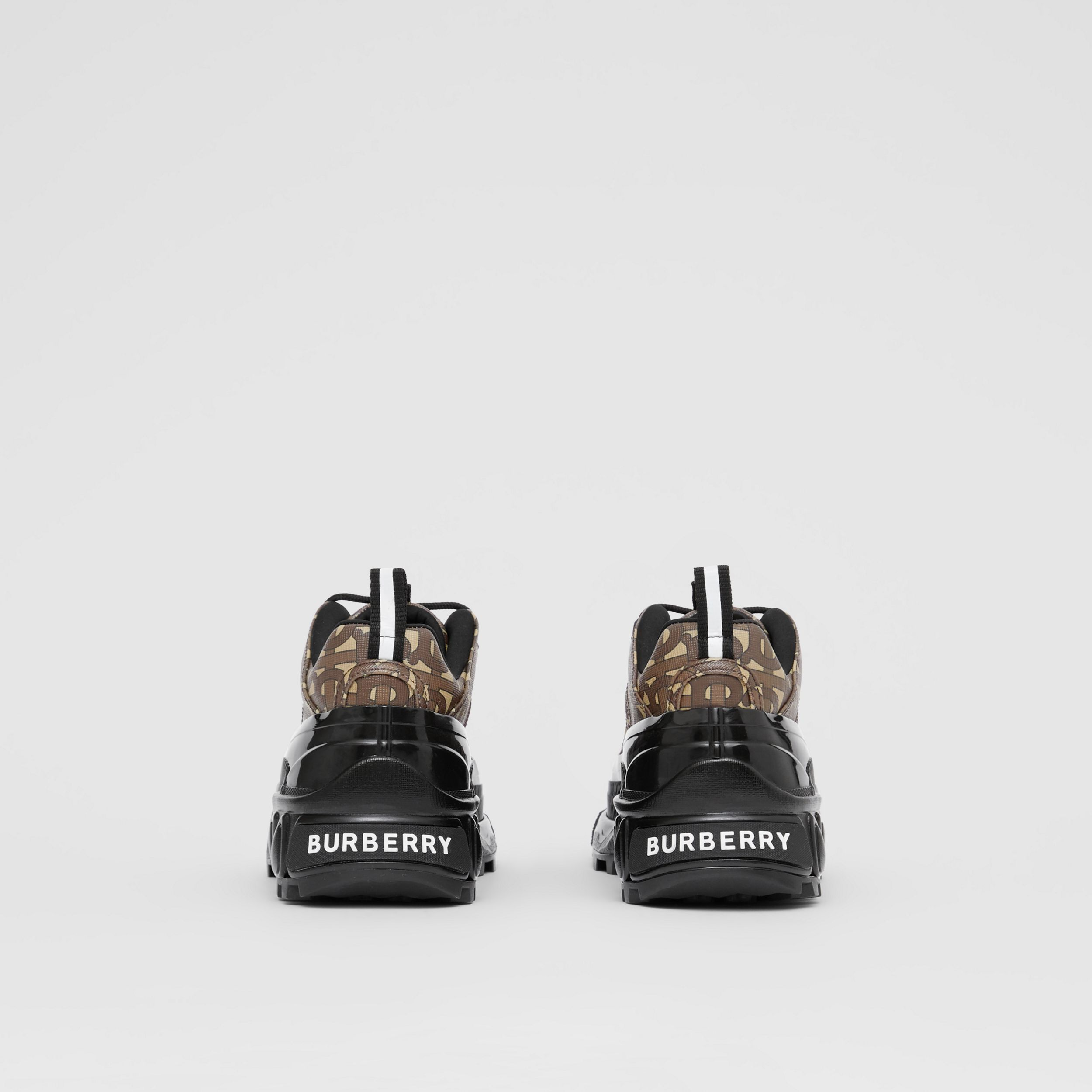 Monogram Print E-canvas Arthur Sneakers in Bridle Brown - Women | Burberry United Kingdom - 4