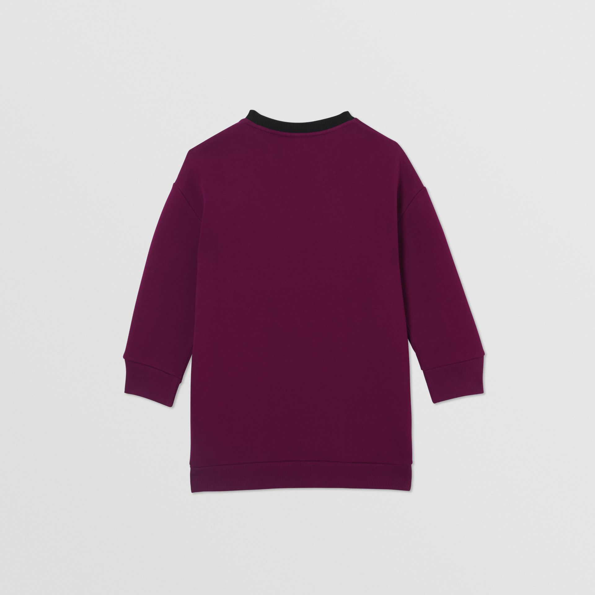 Logo Print Jersey Sweater Dress in Burgundy | Burberry Singapore - gallery image 3