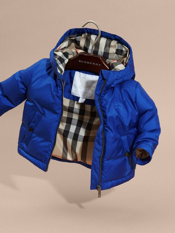 Brilliant blue Down-filled Hooded Puffer Jacket Brilliant Blue - cell image 2