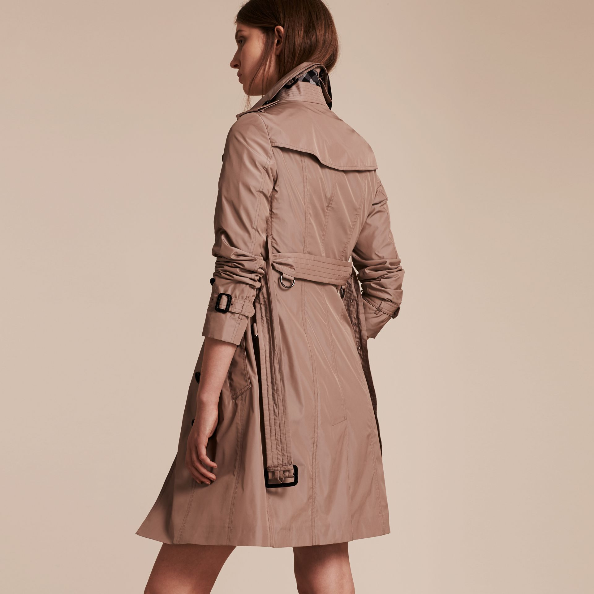 Nude Long Technical Trench Coat - gallery image 3