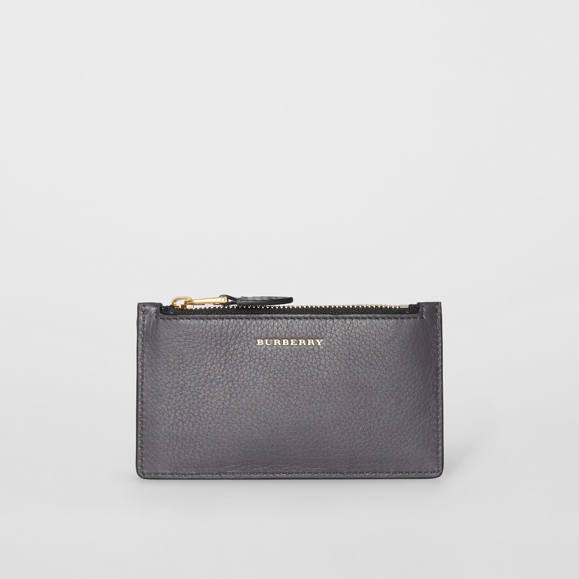 Two-tone Leather Card Case in Charcoal Grey - Women | Burberry Singapore - gallery image 2