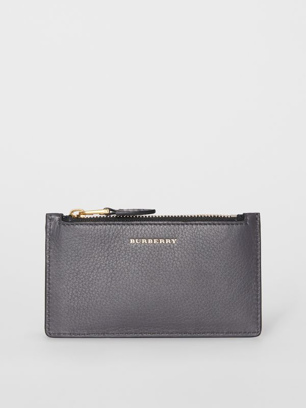 Two-tone Leather Card Case in Charcoal Grey - Women | Burberry Canada - cell image 2