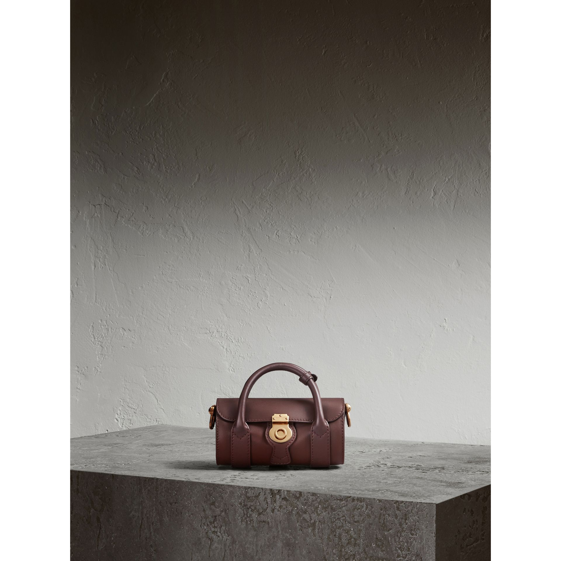The Mini DK88 Barrel Bag in Dark Chocolate - Women | Burberry - gallery image 1