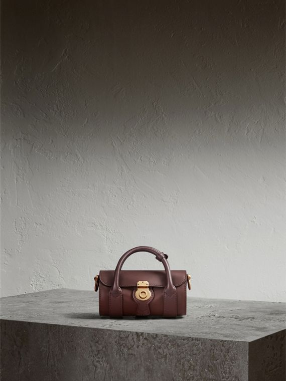The Mini DK88 Barrel Bag in Dark Chocolate - Women | Burberry