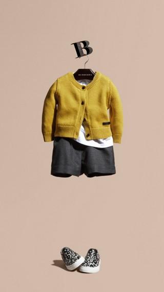 Cardigan en coton et cachemire
