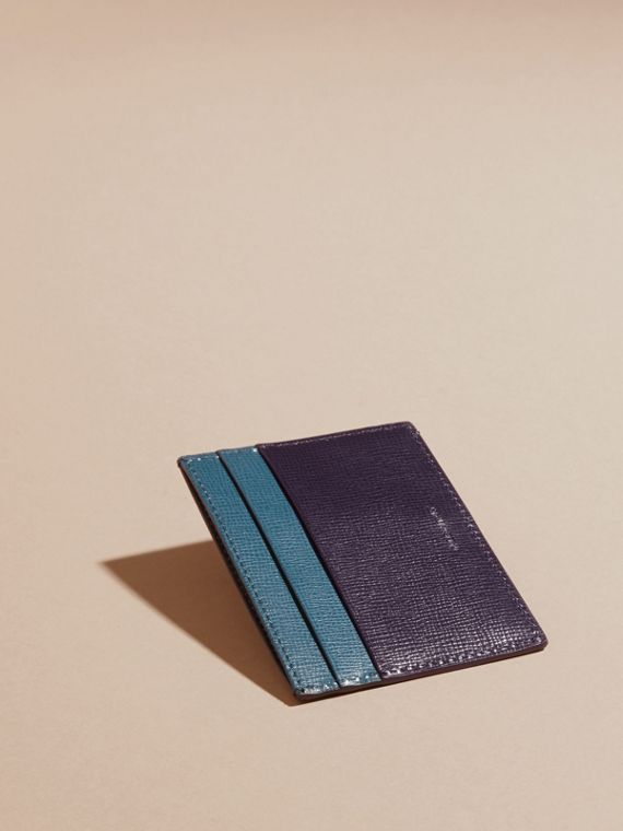Dark navy/mineral blue Colour Block London Leather Card Case Dark Navy/mineral Blue - cell image 3