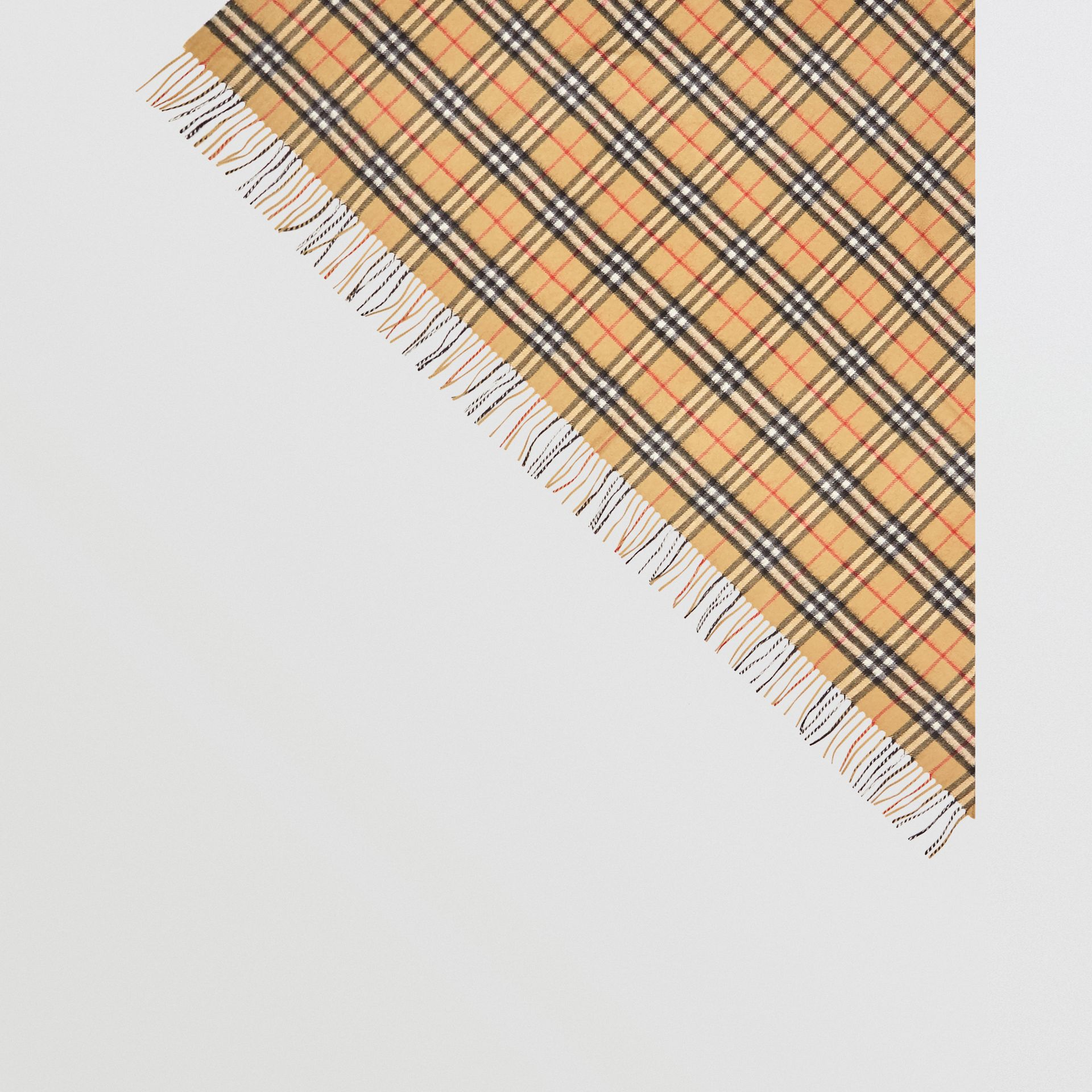 The Burberry Bandana in Vintage Check Cashmere in Antique Yellow | Burberry - gallery image 4