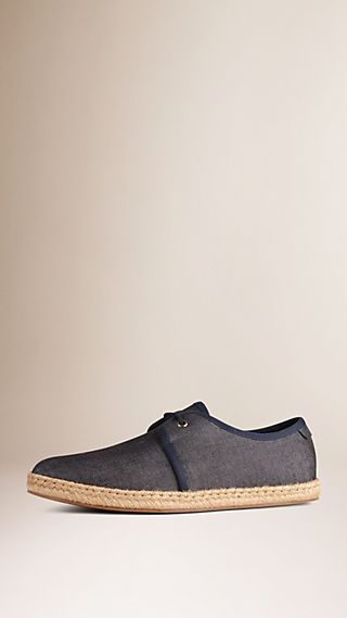 Japanese Linen Lace-up Espadrilles