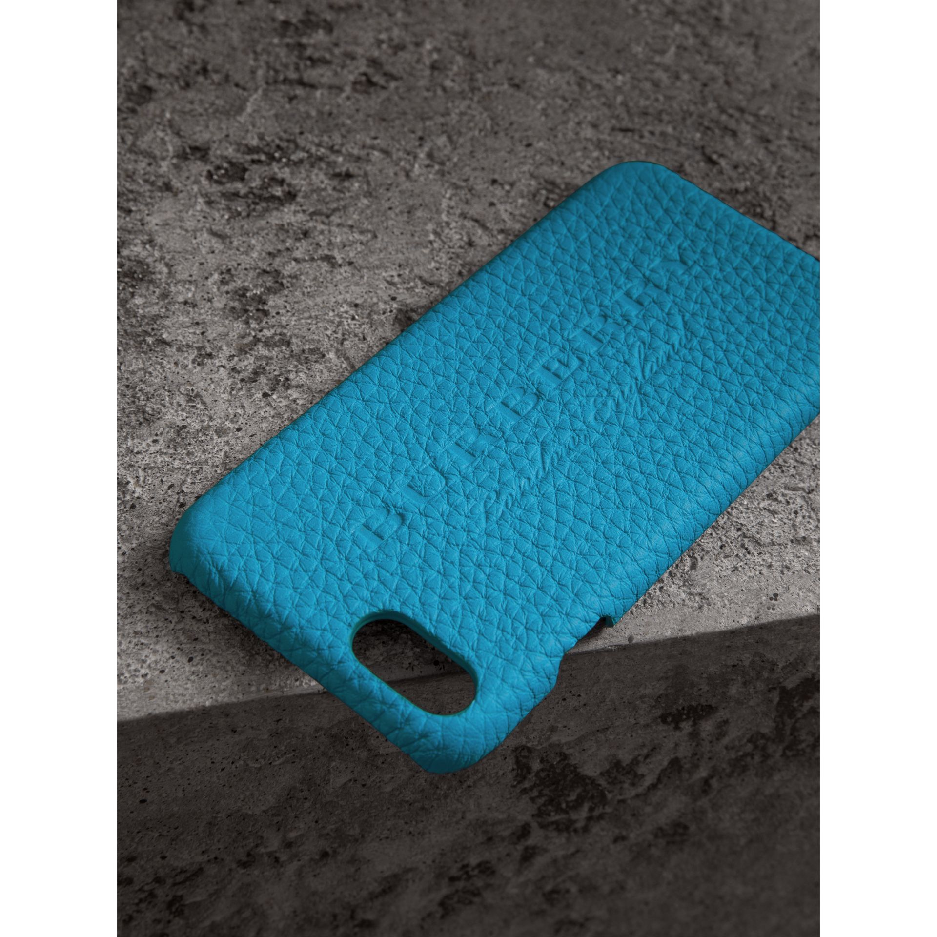 Neon Leather iPhone 7 Case in Bright Blue - Women | Burberry - gallery image 1