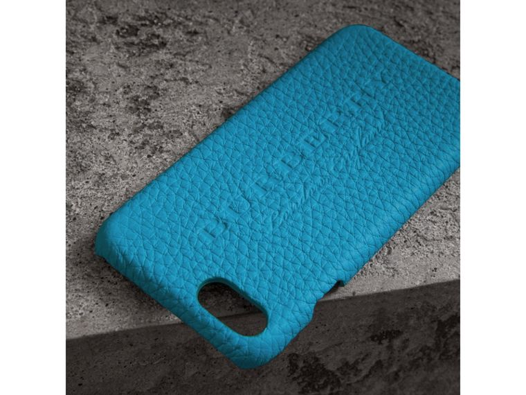 Neon Leather iPhone 7 Case in Bright Blue | Burberry Australia - cell image 1