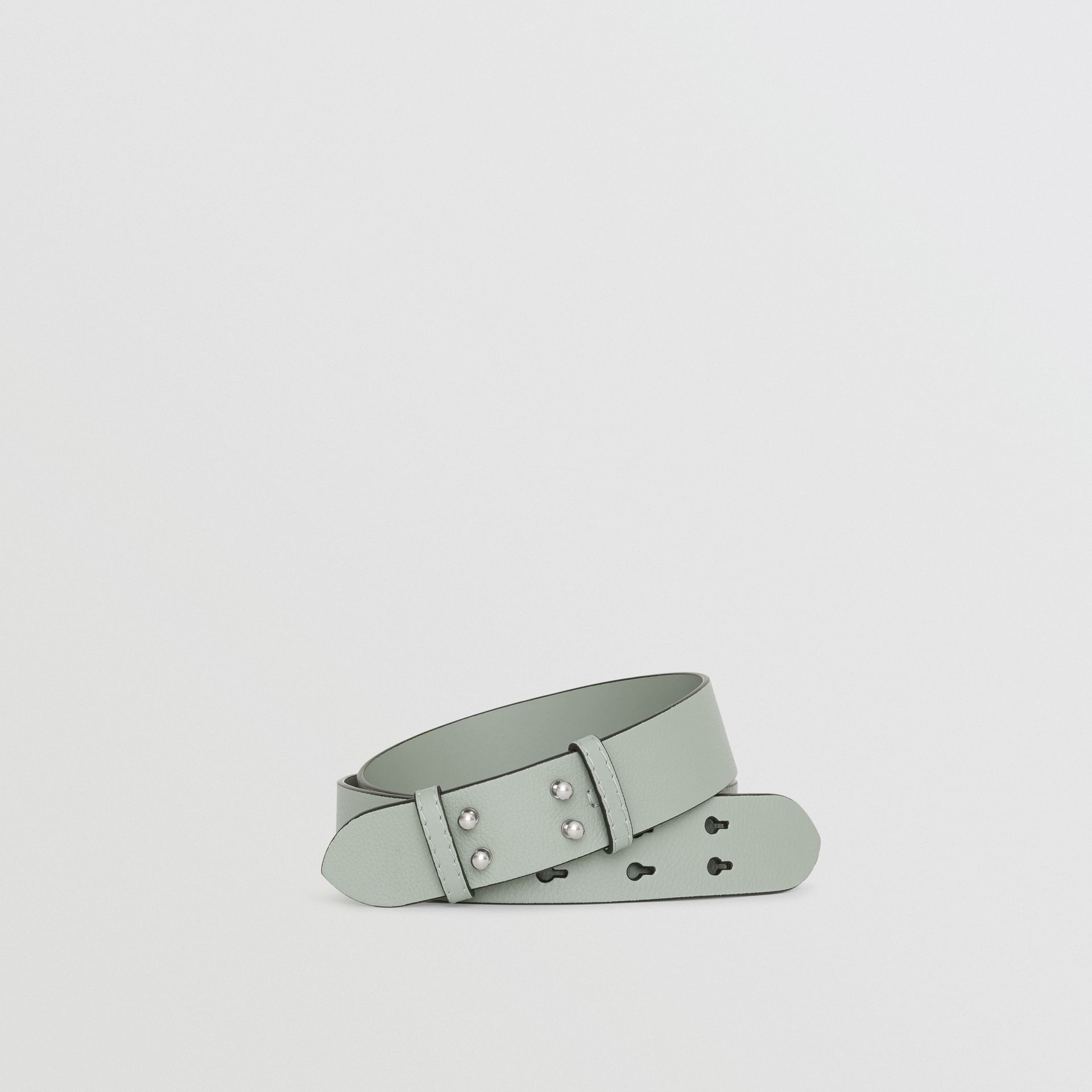 The Medium Belt Bag Grainy Leather Belt in Grey Blue - Women | Burberry - gallery image 0