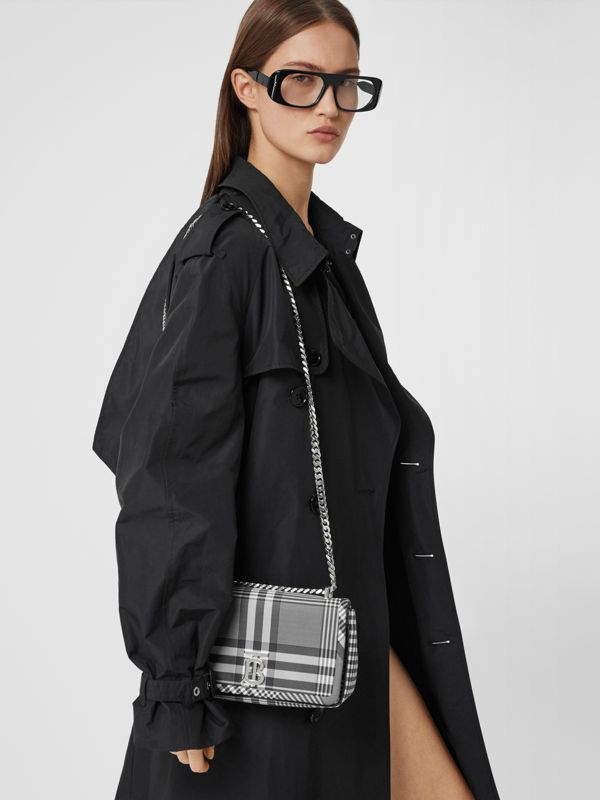 Small Check Nylon Lola Bag in Black/white - Women | Burberry Canada - cell image 2