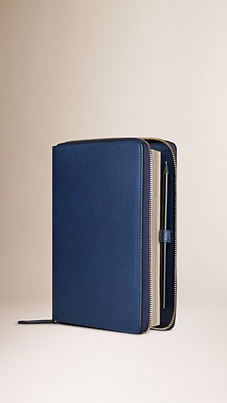 Ziparound Grainy Leather A5 Notebook