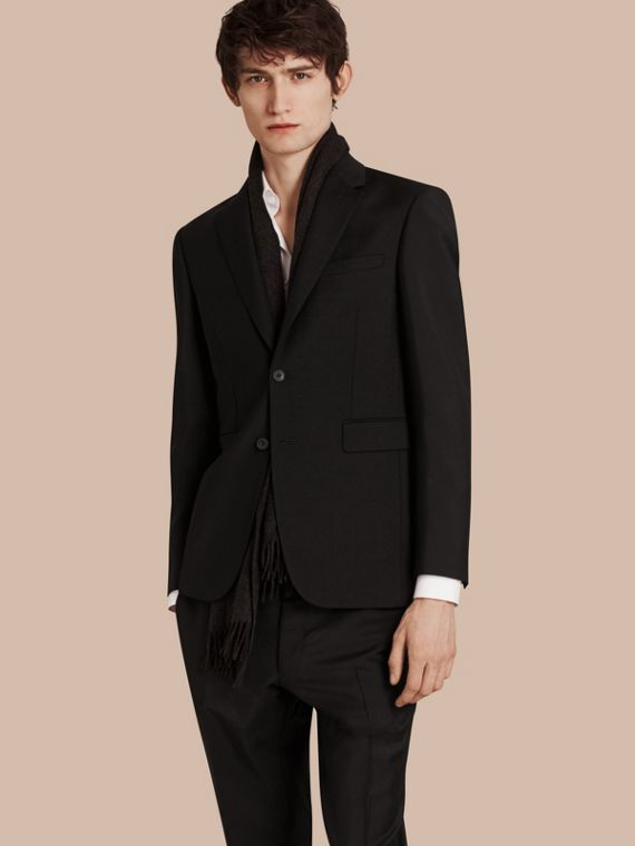 Modern Fit Wool Mohair Part-canvas Jacket - Men | Burberry Singapore