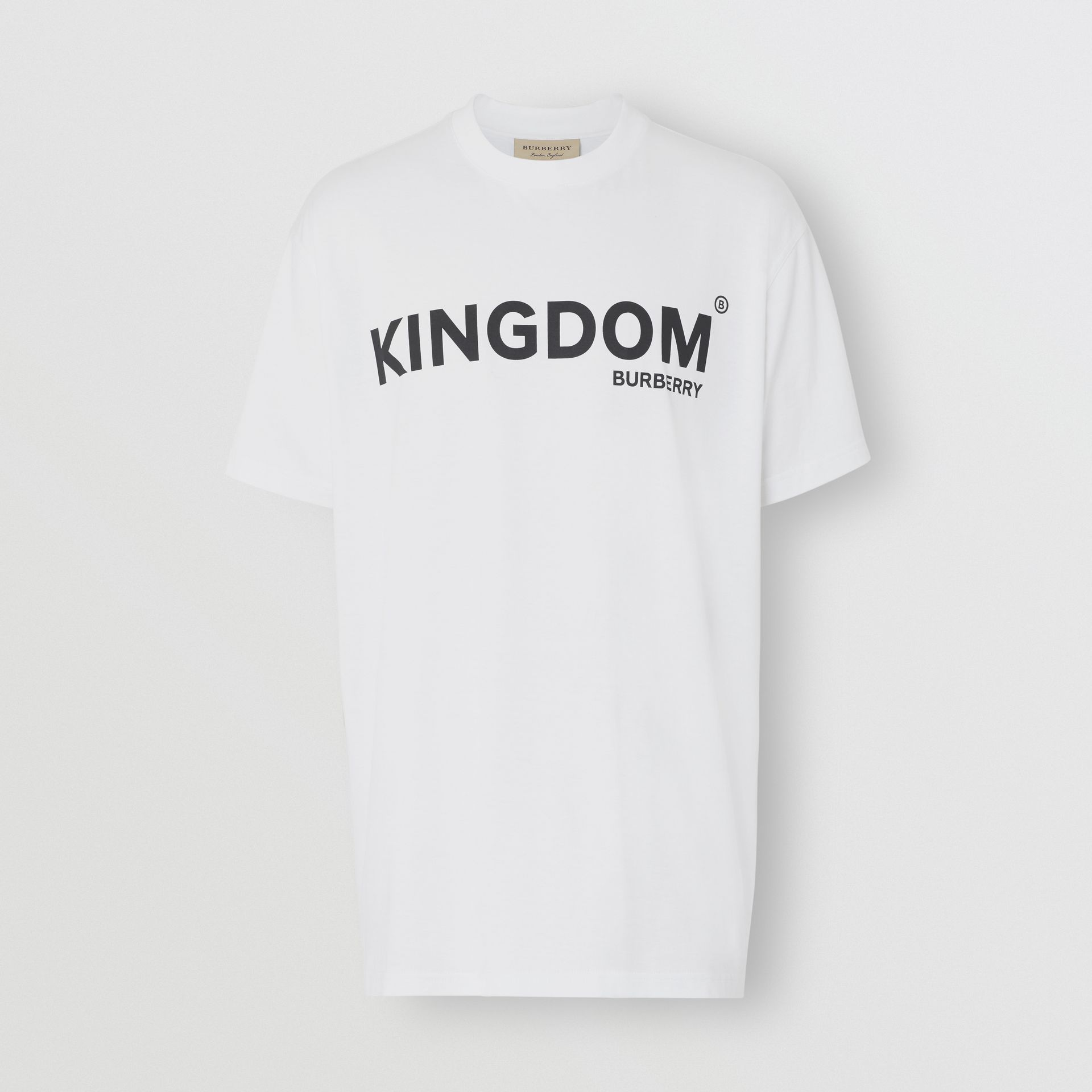 Kingdom Print Cotton T-shirt in White - Men | Burberry United States - gallery image 3