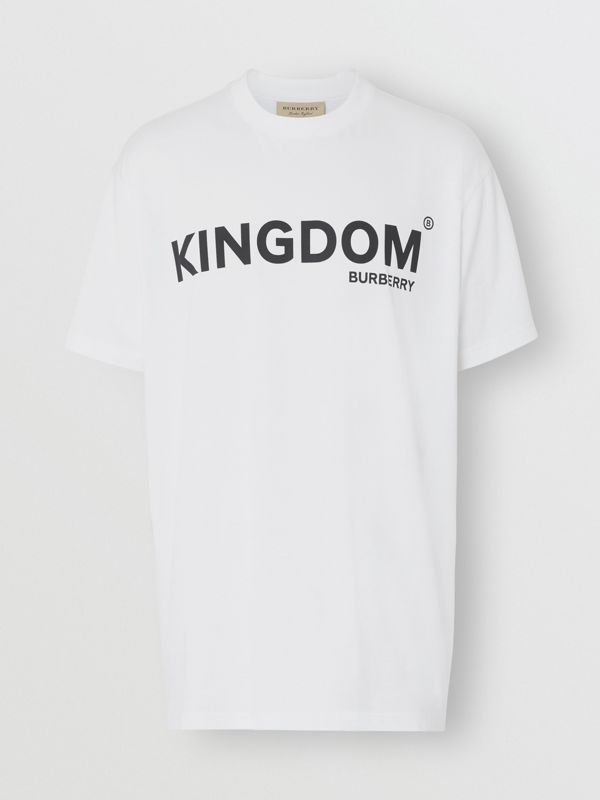 Kingdom Print Cotton T-shirt in White - Men | Burberry United States - cell image 3
