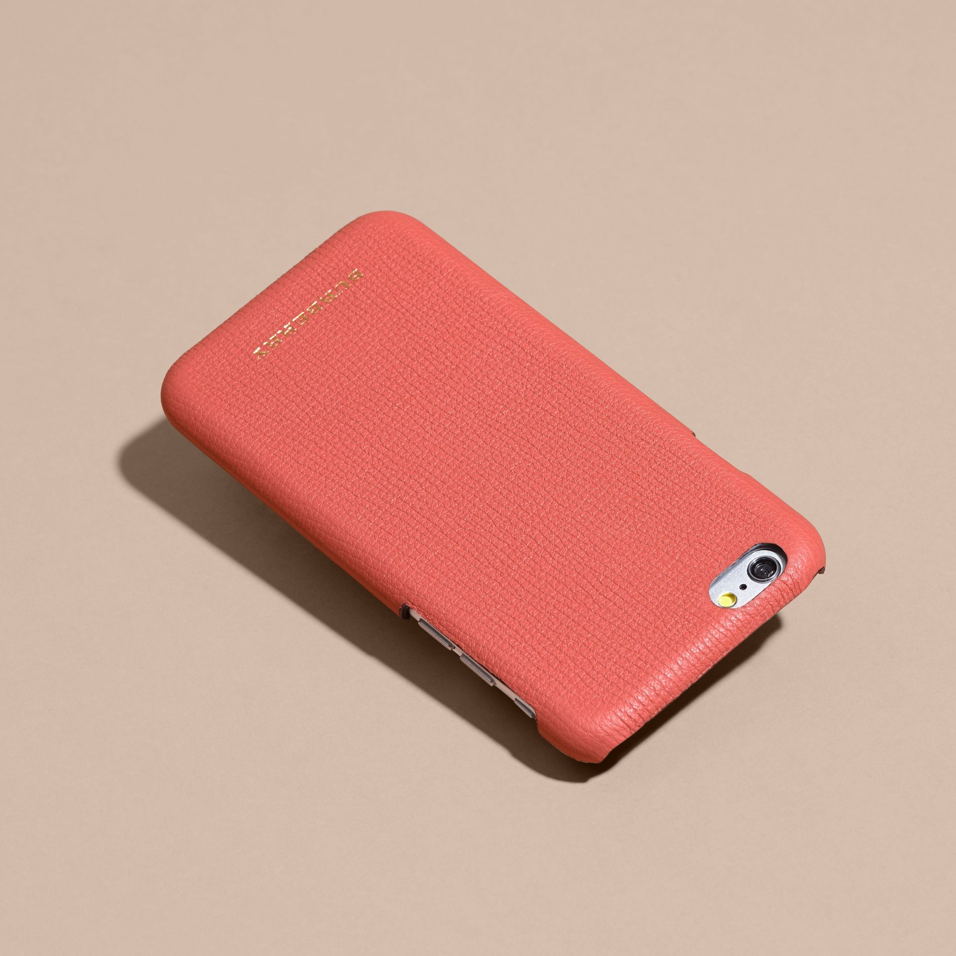 Grainy Leather iPhone 6 Case in Copper Pink - Women | Burberry Australia - gallery image 4