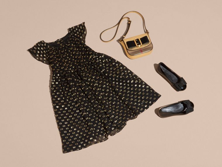 Fil Coupé Dress in Gold/black - cell image 4