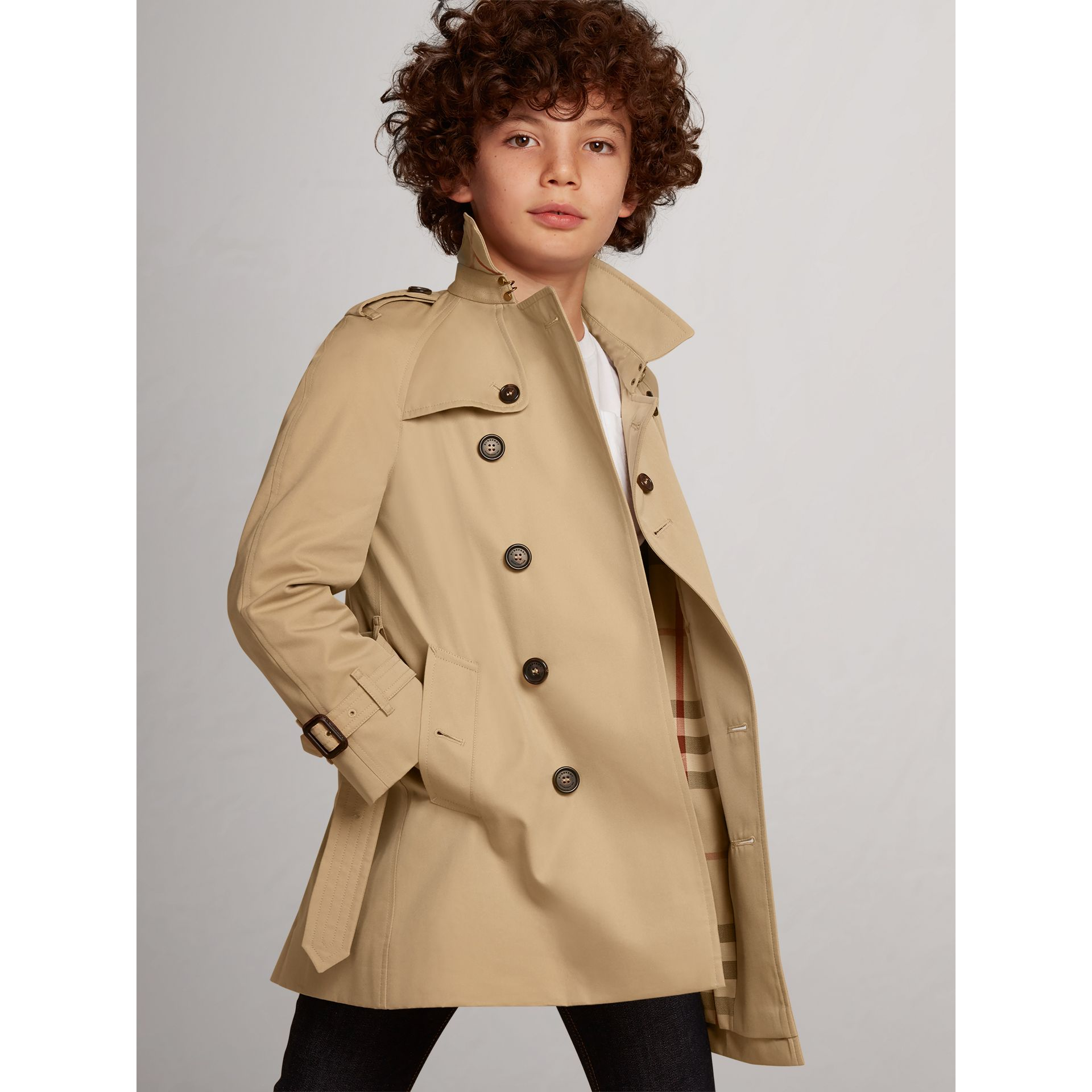 Trench The Wiltshire (Miel) - Garçon | Burberry - photo de la galerie 0