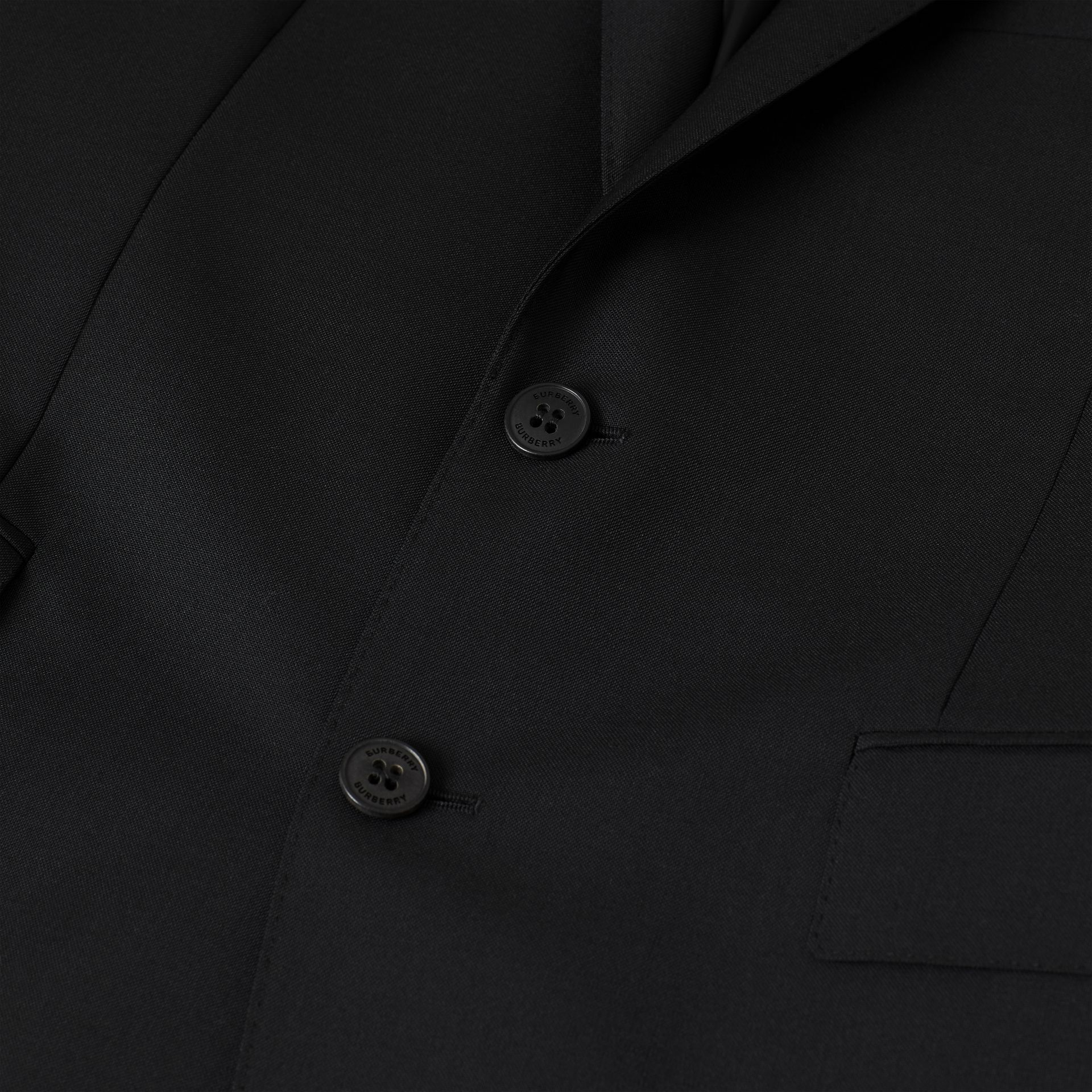 Slim Fit Wool Mohair Suit in Black - Men | Burberry Canada - gallery image 8