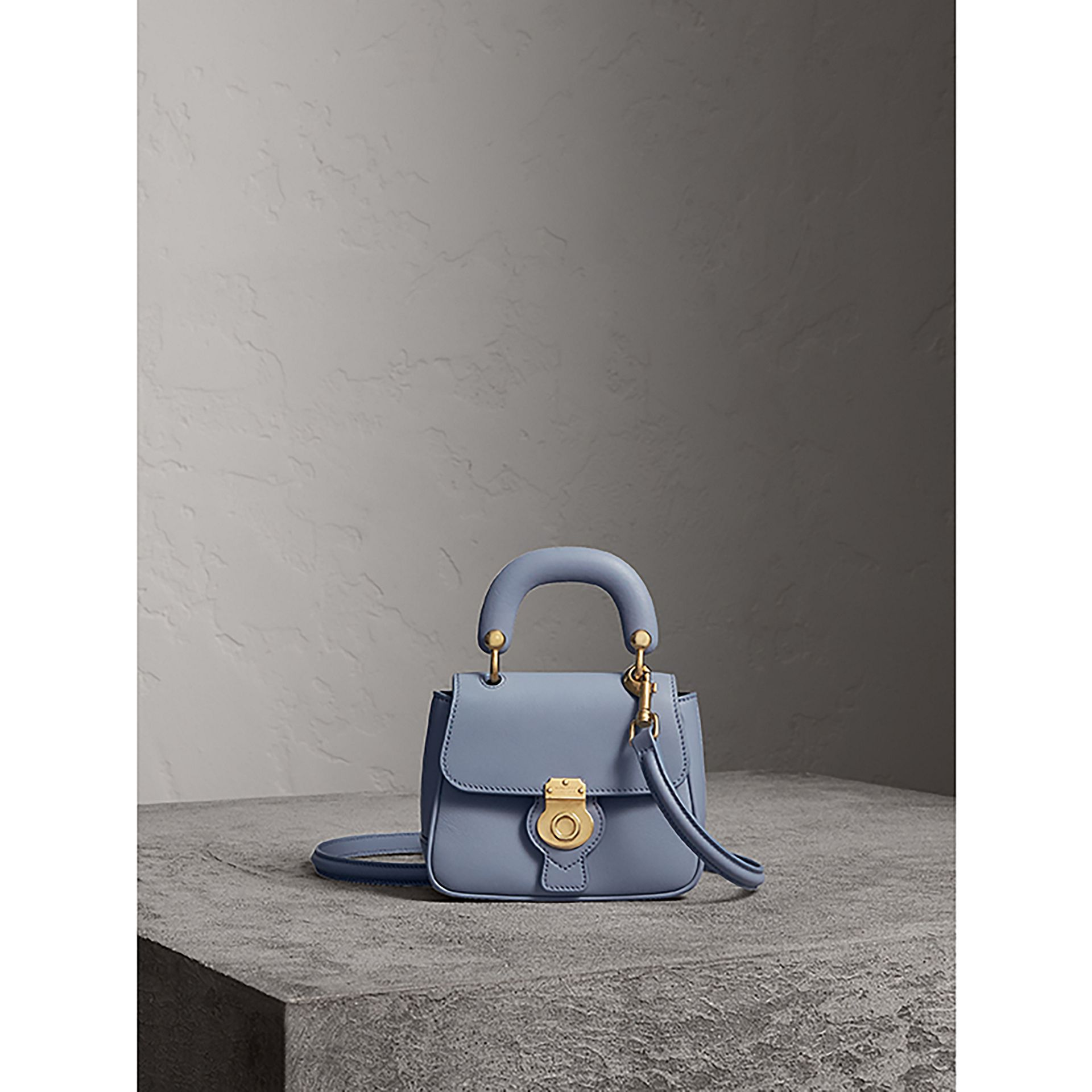 The Mini DK88 Top Handle Bag in Slate Blue - Women | Burberry - gallery image 1