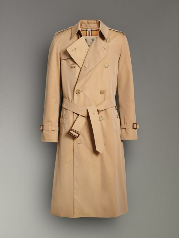 The Long Chelsea Heritage Trench Coat in Honey - Men | Burberry Australia - cell image 3