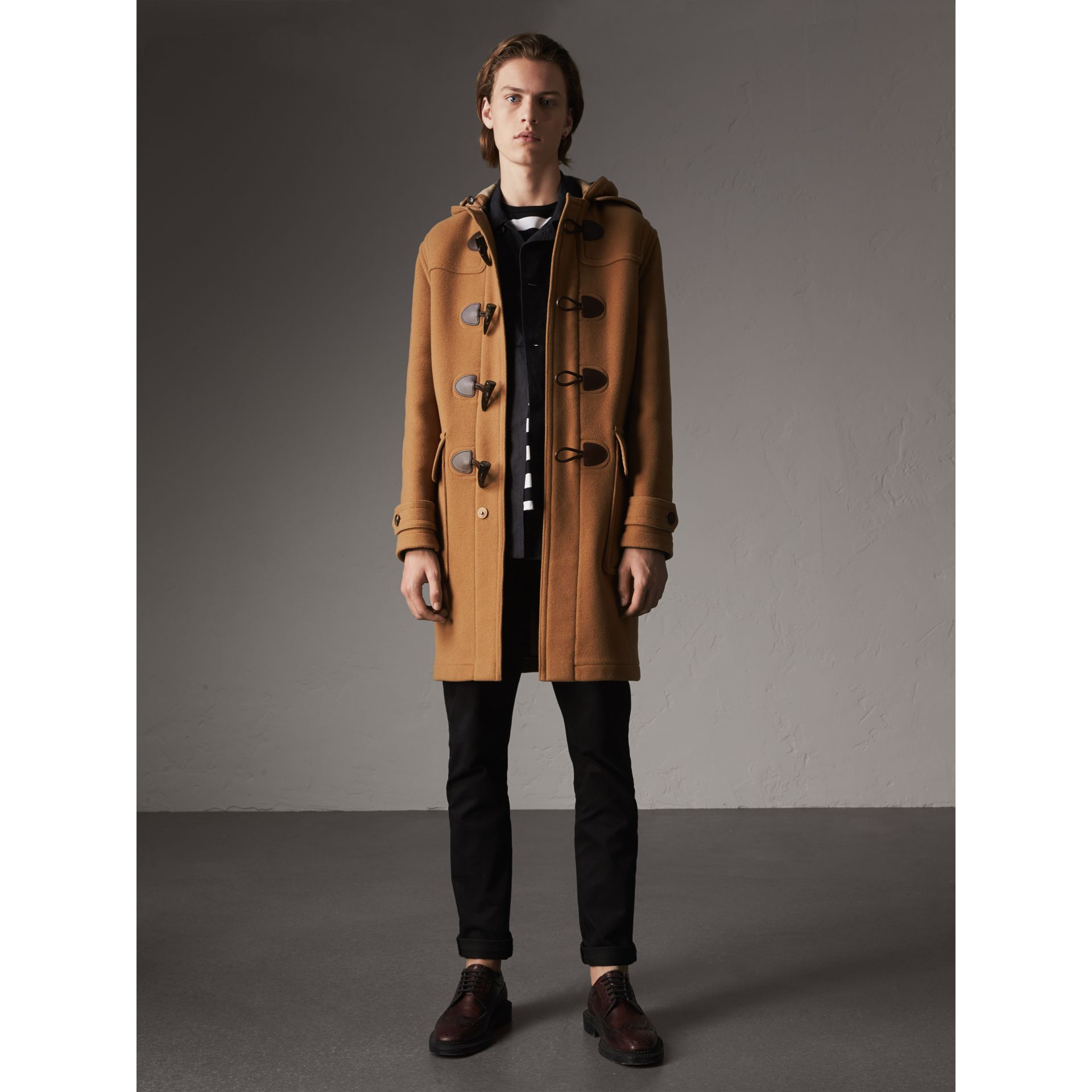 Wool-Blend Duffle Coat in Camel - Men | Burberry - gallery image 6