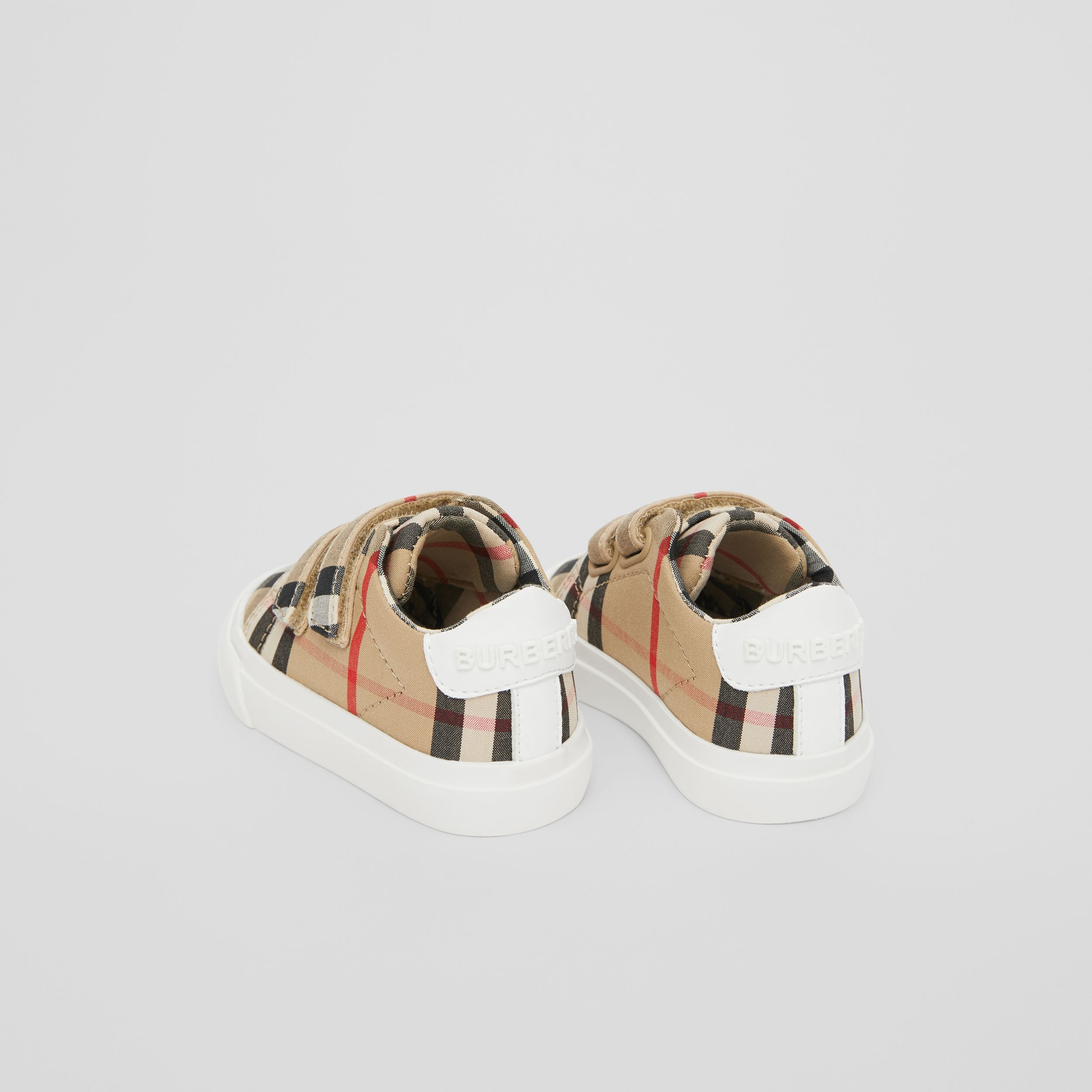 Vintage Check Cotton Sneakers in Archive Beige - Children | Burberry Australia - 3