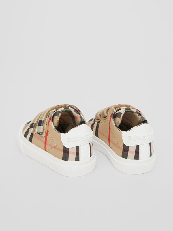 Vintage Check Cotton Sneakers in Archive Beige - Children | Burberry United Kingdom - cell image 2