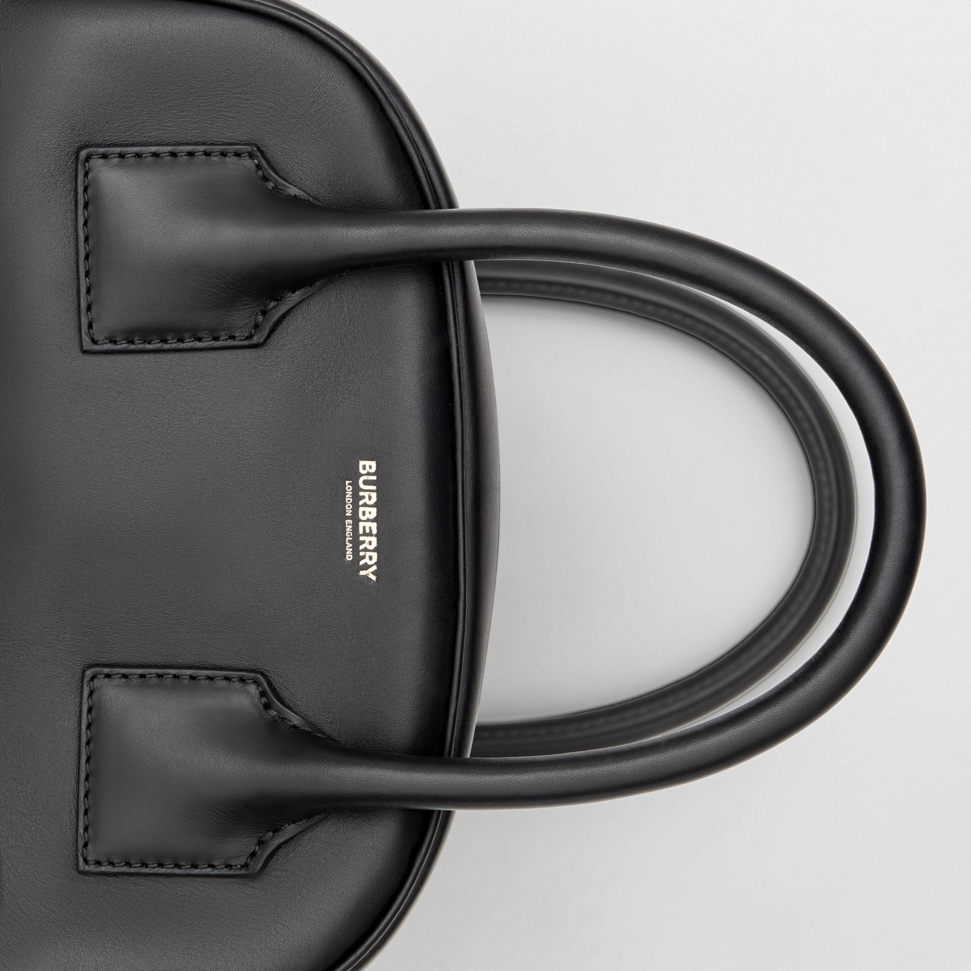 Small Leather Cube Bag in Black - Women | Burberry - gallery image 9