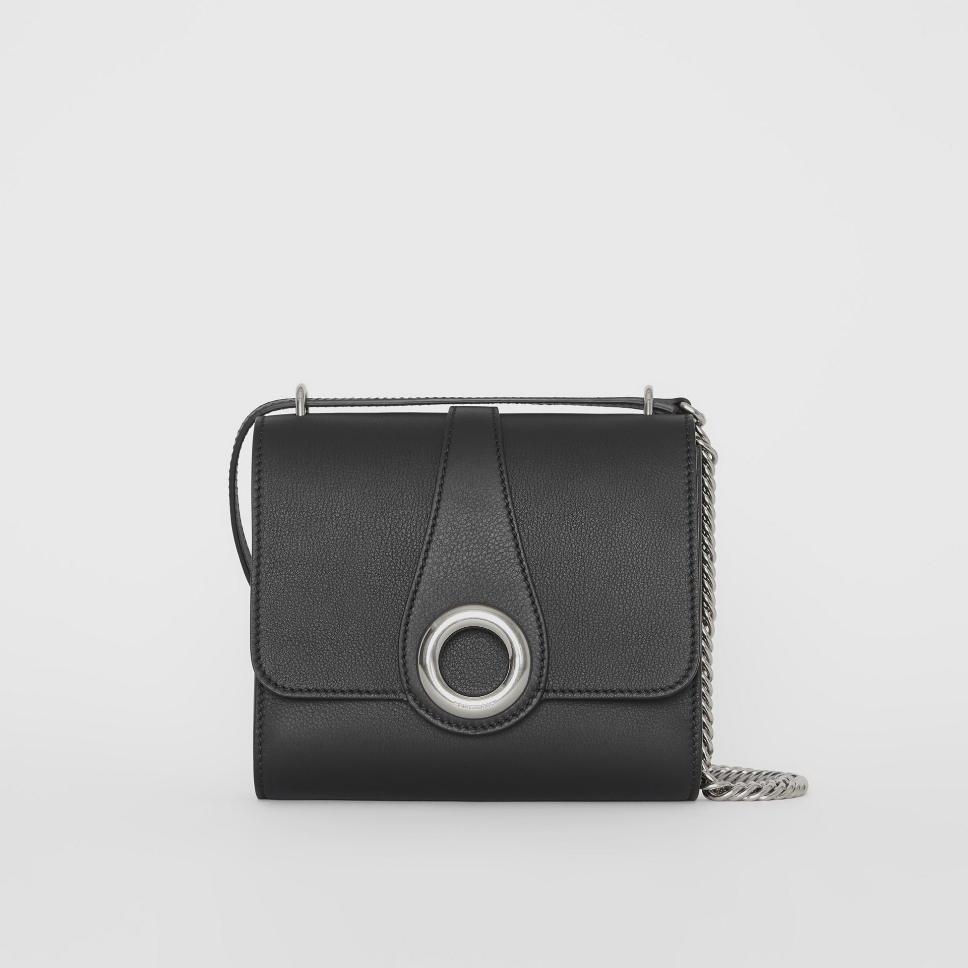 The Leather Grommet Detail Crossbody Bag in Black - Women | Burberry Canada - gallery image 0