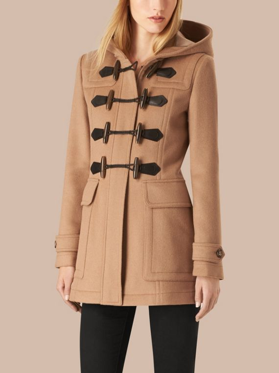 Fitted Wool Duffle Coat in New Camel - cell image 3
