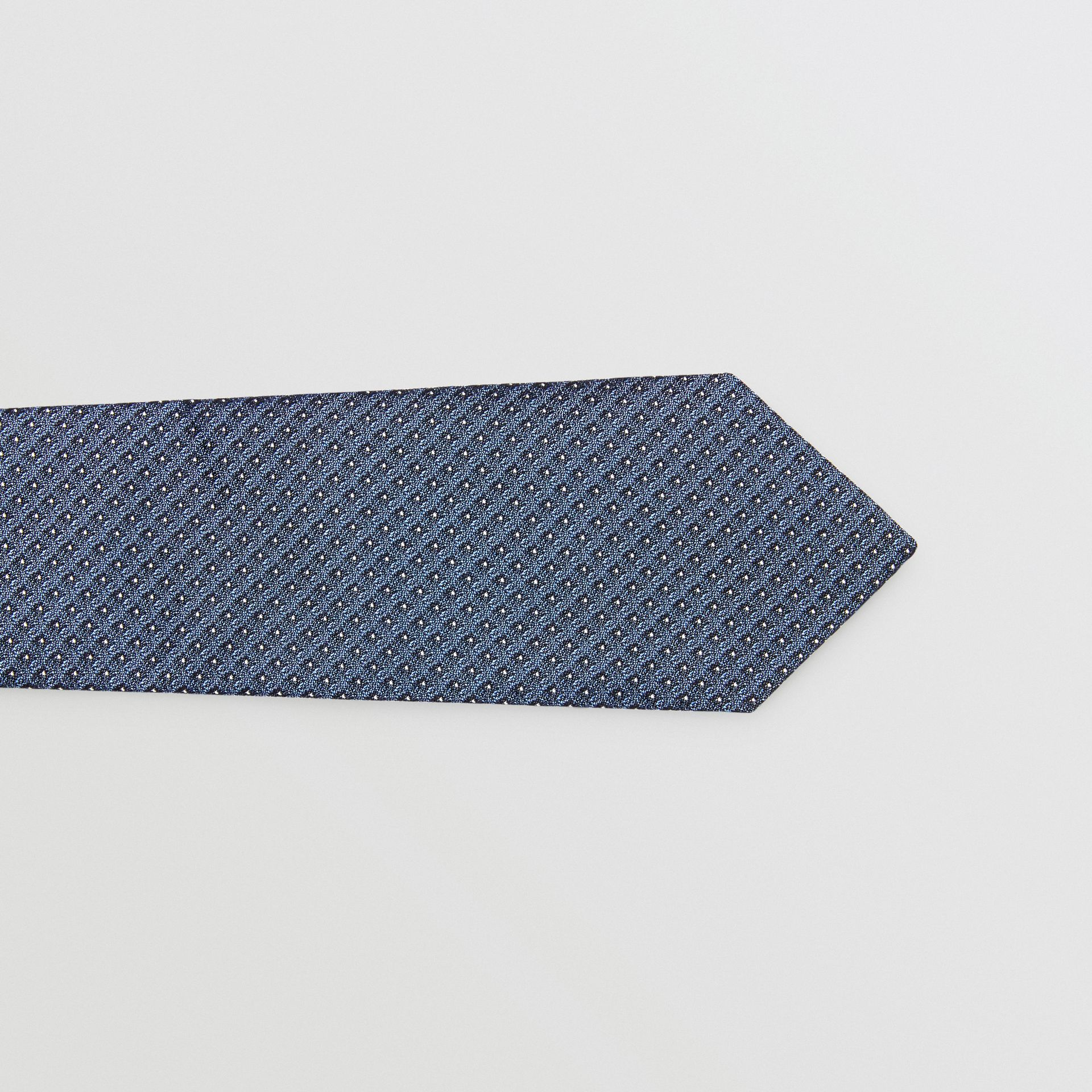 Classic Cut Micro Dot Silk Jacquard Tie in Porcelain Blue - Men | Burberry - gallery image 1