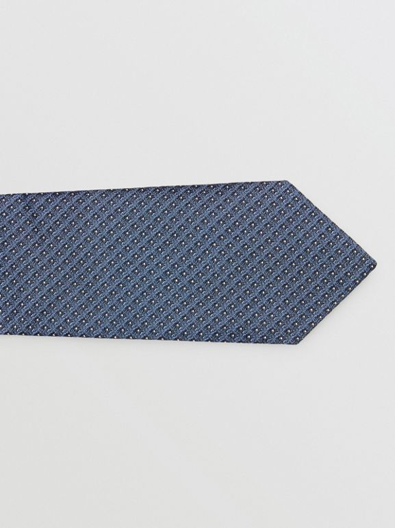 Classic Cut Micro Dot Silk Jacquard Tie in Porcelain Blue - Men | Burberry Australia - cell image 1
