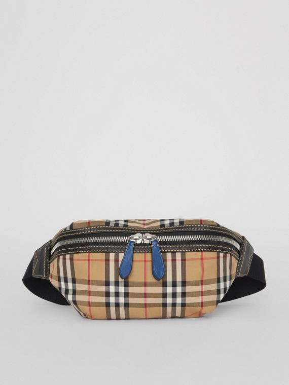 Medium Vintage Check Bum Bag in Canvas Blue