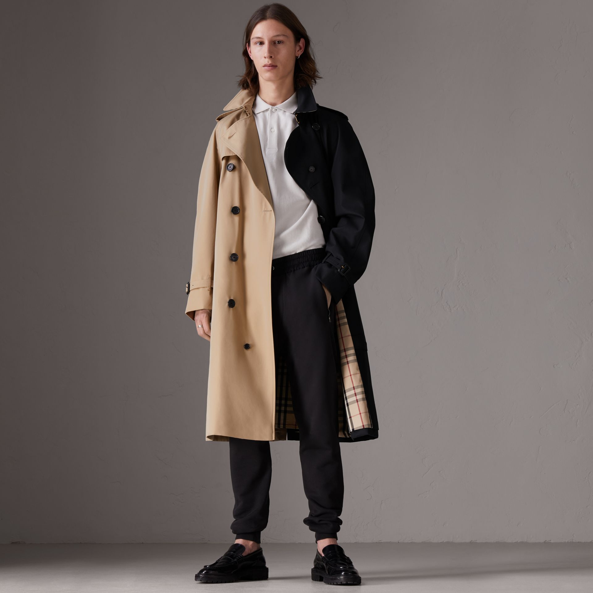 Gosha x Burberry Two-tone Trench Coat in Honey | Burberry United Kingdom - gallery image 0