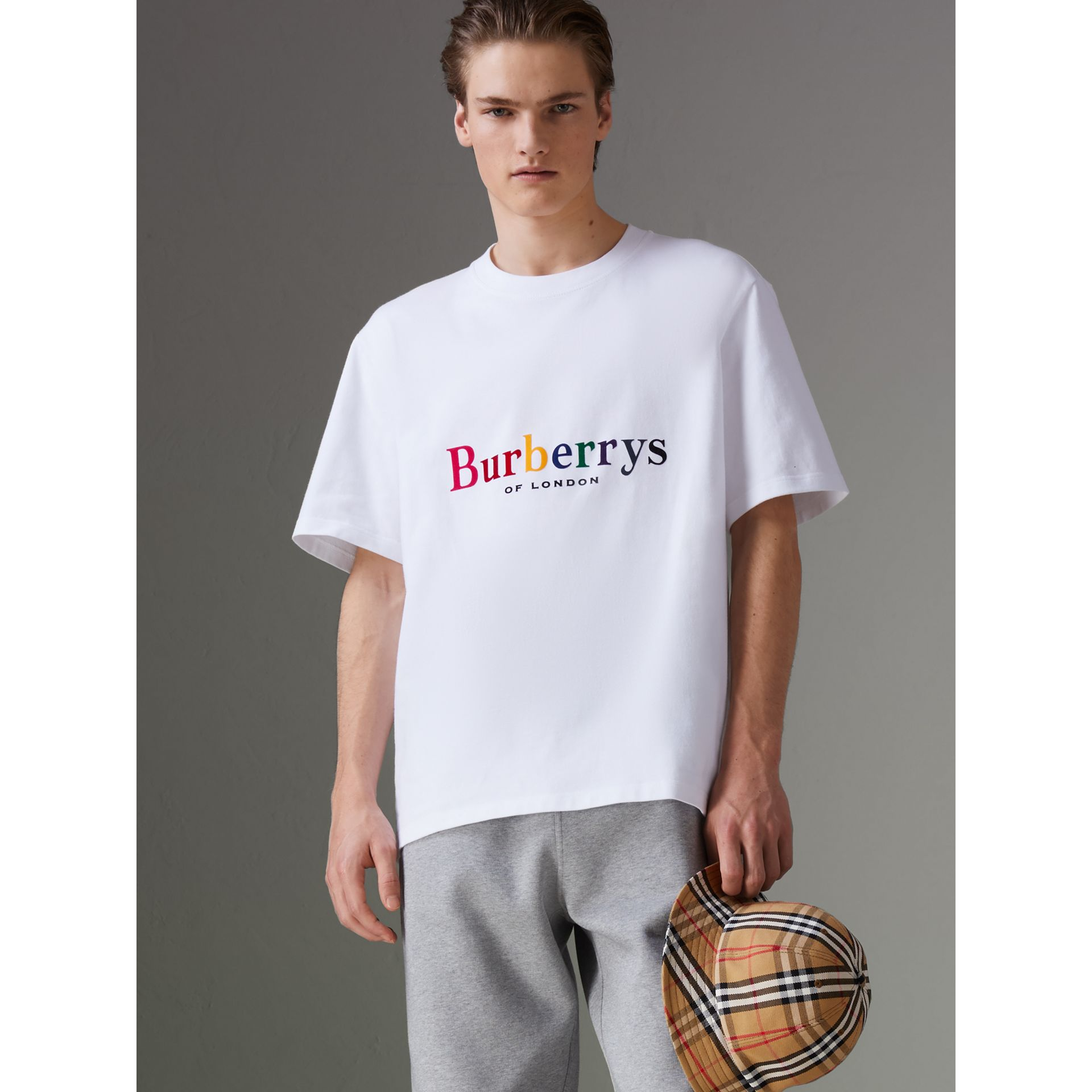 Reissued Cotton T-shirt in White - Men | Burberry - gallery image 4