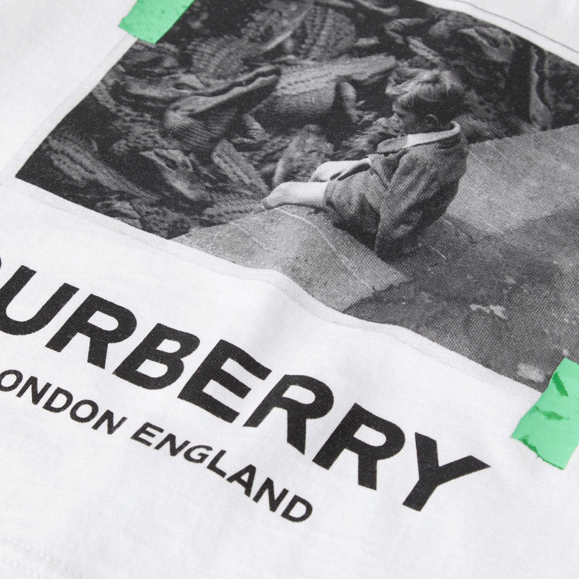 Vintage Photo Print Cotton T-shirt in White - Children | Burberry - gallery image 1