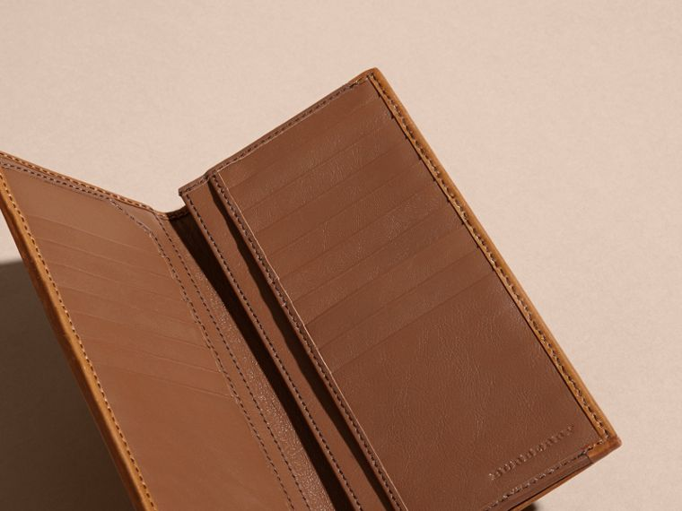Small Horseferry Check Currency Wallet in Tan - Men | Burberry Canada - cell image 4