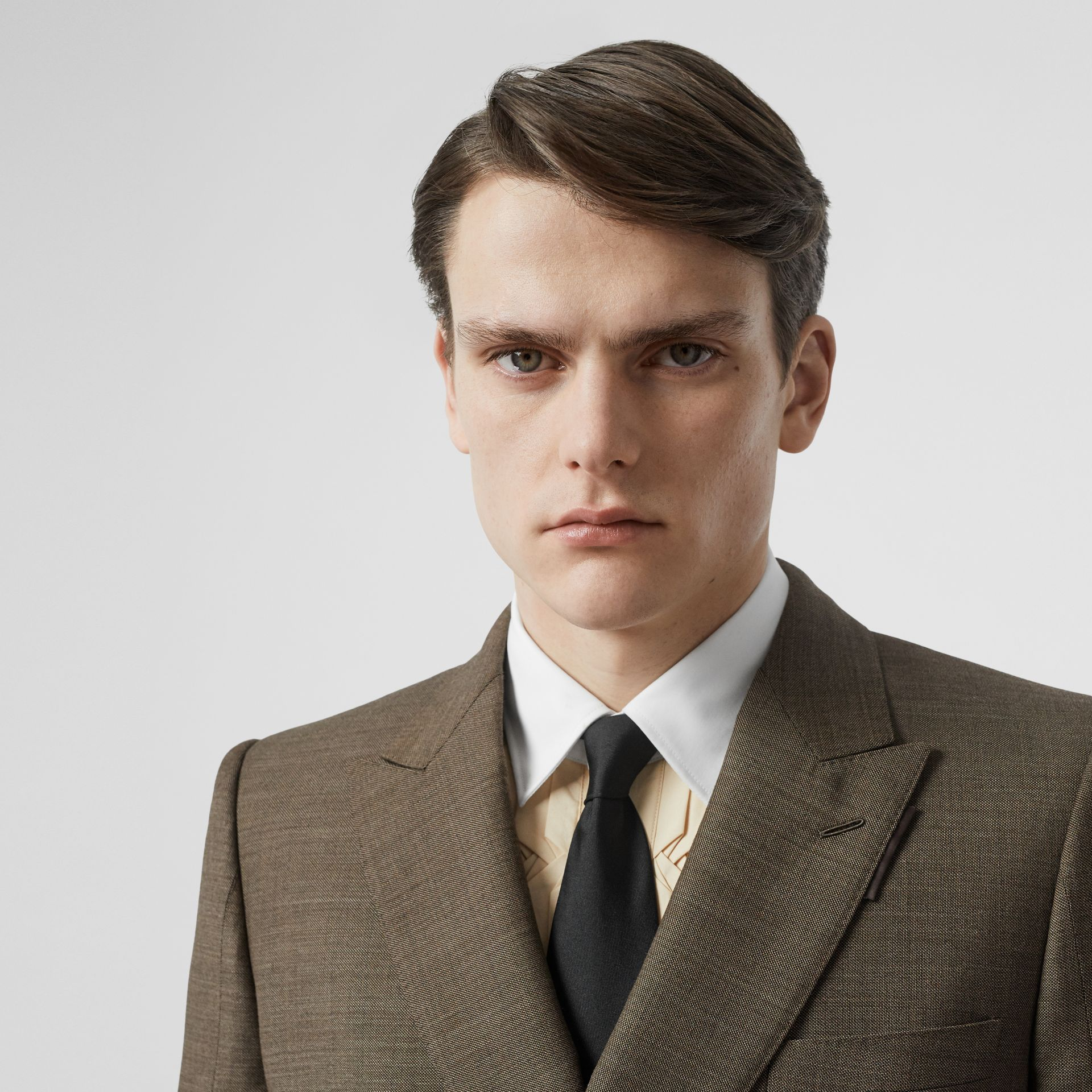Classic Cut Silk Tie in Black - Men | Burberry - gallery image 2