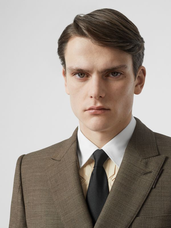 Classic Cut Silk Tie in Black - Men | Burberry United Kingdom - cell image 2