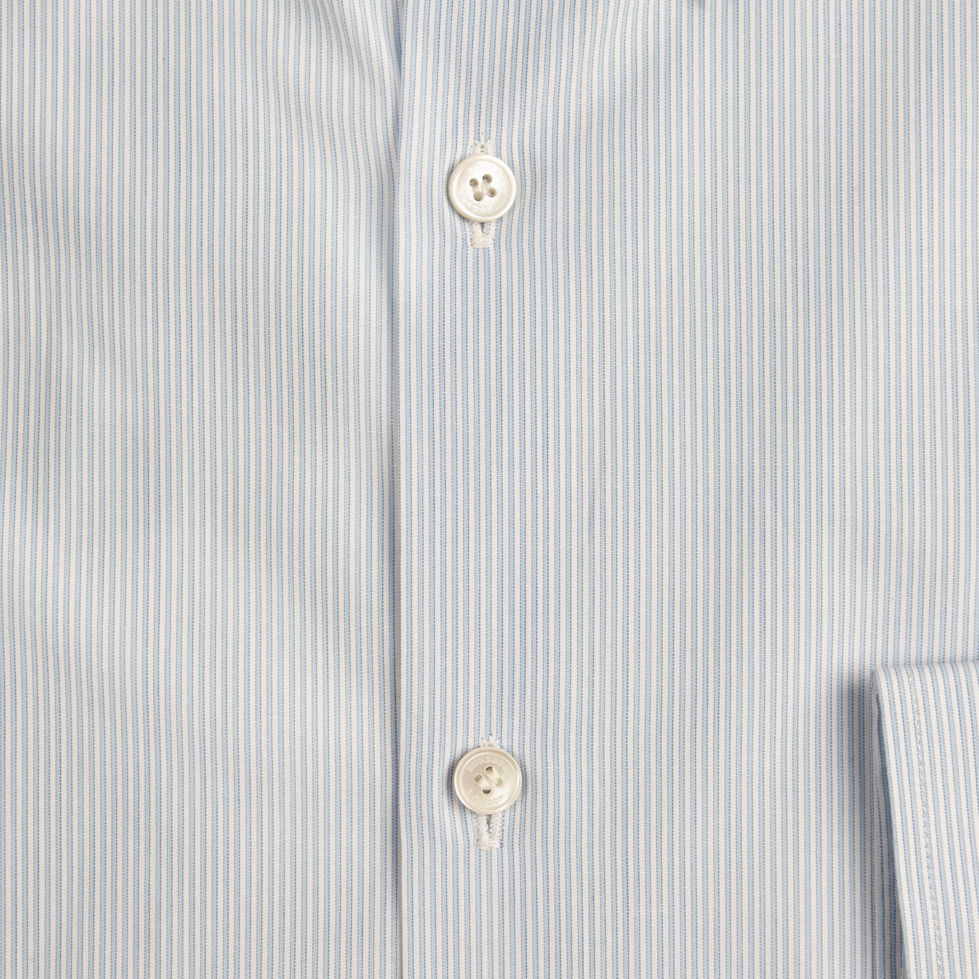 City blue Slim Fit Button-down Collar Striped Cotton Poplin Shirt - gallery image 2