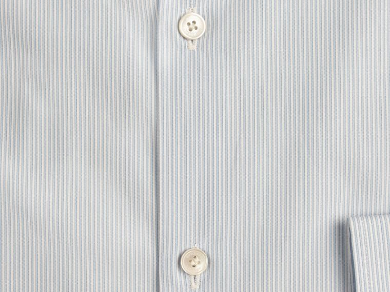 City blue Slim Fit Button-down Collar Striped Cotton Poplin Shirt - cell image 1