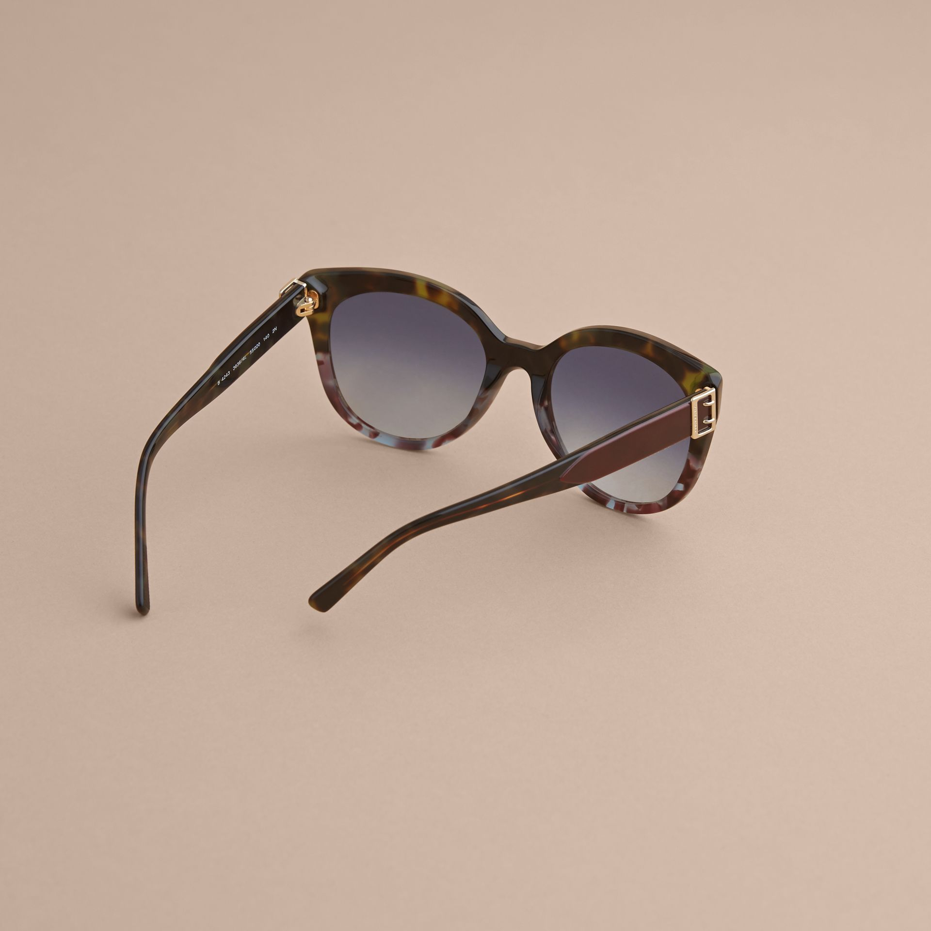 Buckle Detail Cat-eye Frame Sunglasses in Apple Green - Women | Burberry United Kingdom - gallery image 3