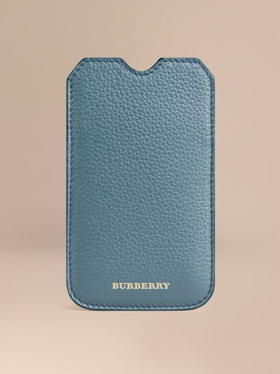 Grainy Leather iPhone 5/5S Case in Dusty Teal | Burberry