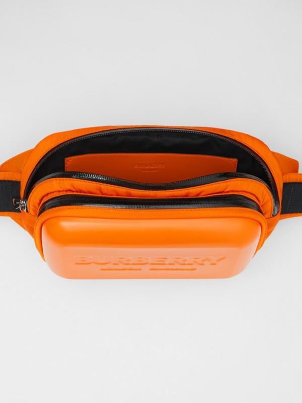 Logo Embossed Panel Nylon Bum Bag in Bright Orange - Men | Burberry United Kingdom - cell image 3